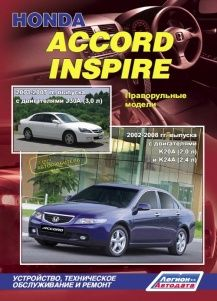 Руководство по ремонту и эксплуатации Honda Accord / Inspire
